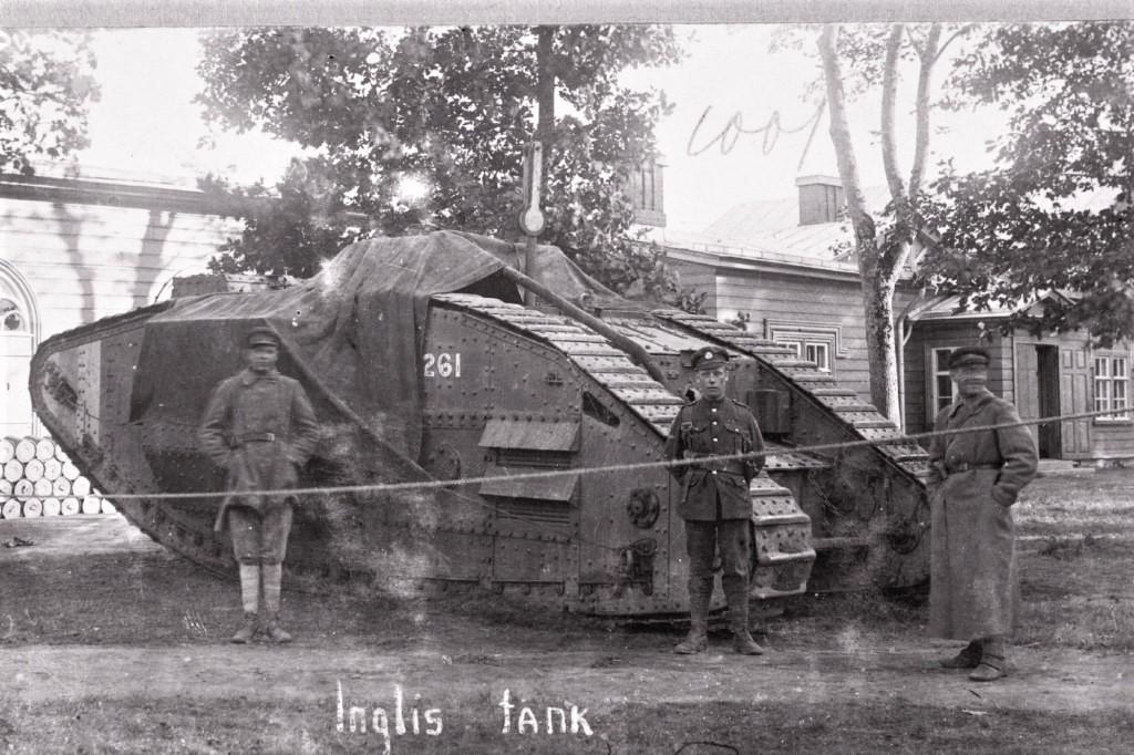 Северозападники с английским танком. <br>