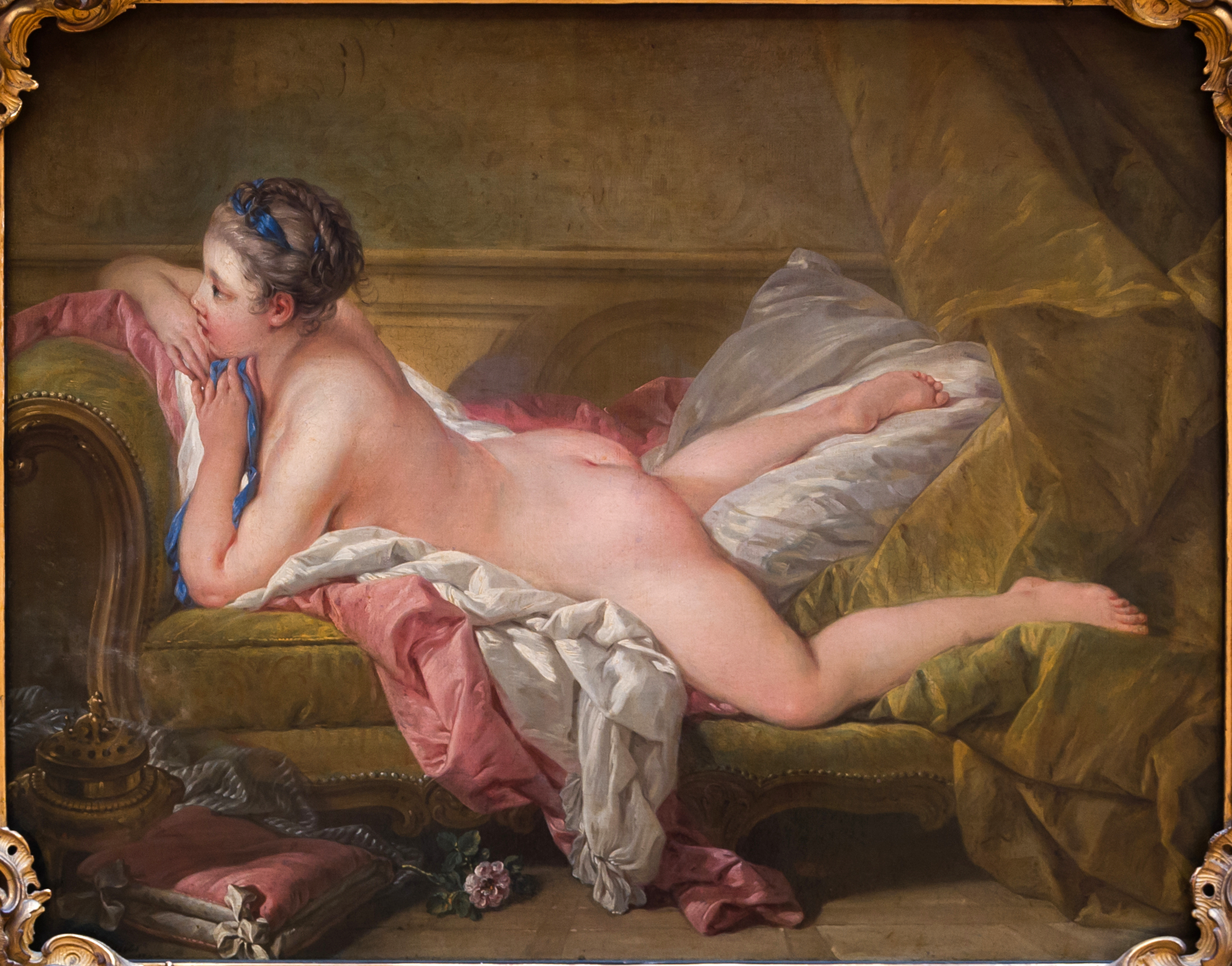 «Отдыхающая девушка». Портрет Луизы О'Мёрфи. <br>