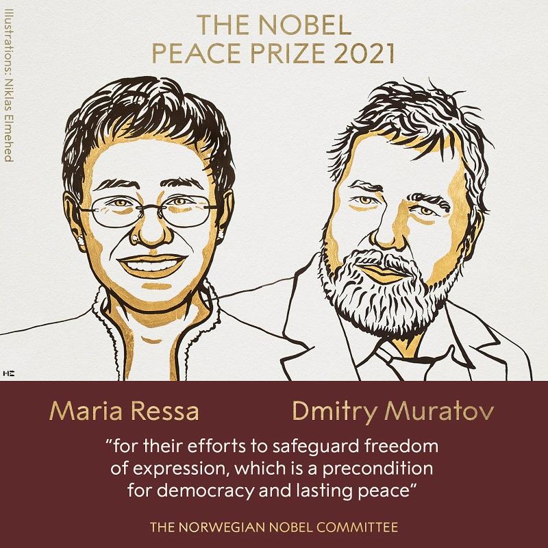 Дмитрий Муратов получил Нобелевскую премию мира