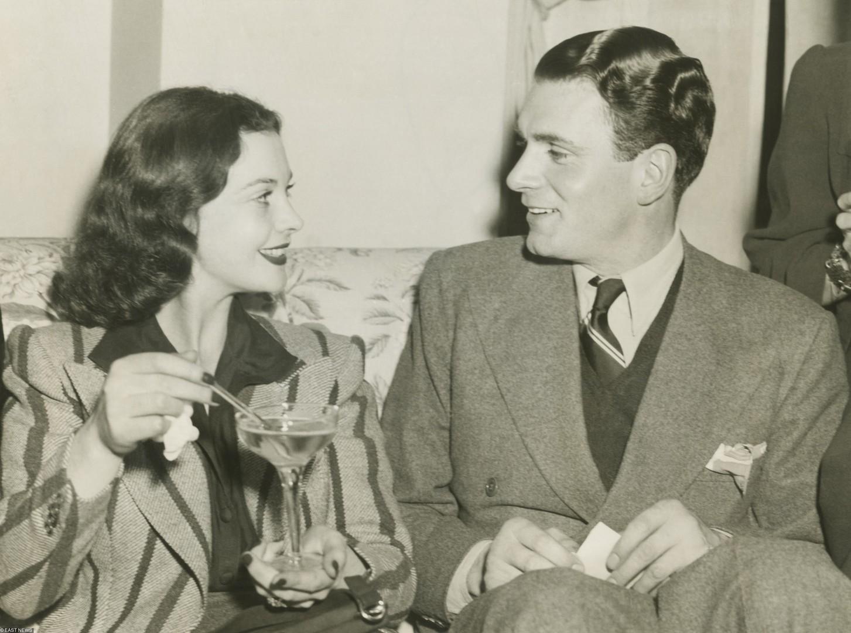 Вивьен и еевторой муж Лоуренс Оливье.