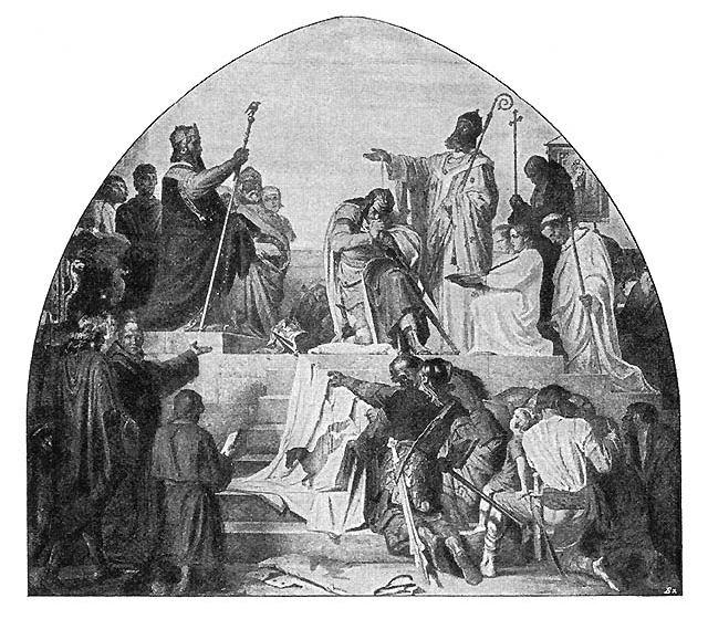 Крещение Видукинда. <br>