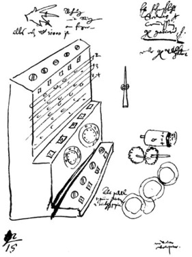 «Считающие часы Шиккарда». Рисунок.